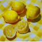 lemons on checkered cloth